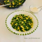 Peas with eggs