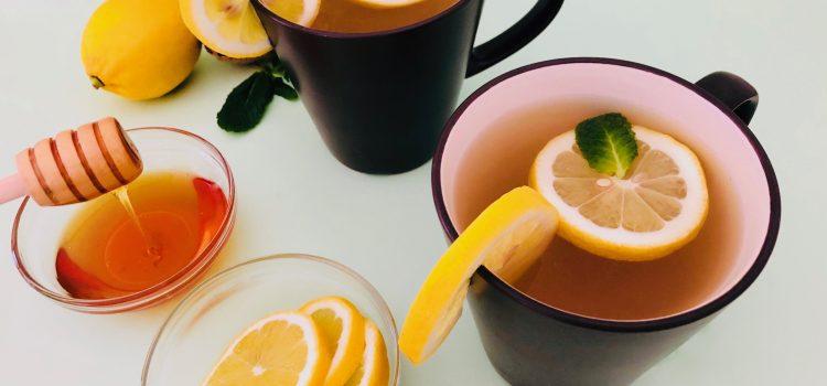 Homemade ginger mint lemon tea