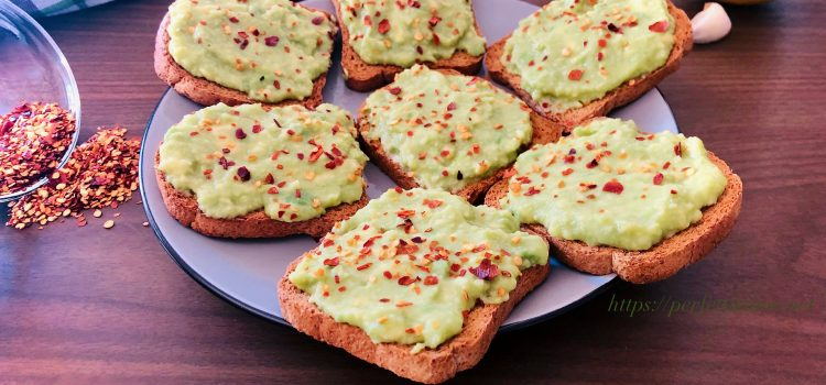 Avocado lemon garlic appetizer
