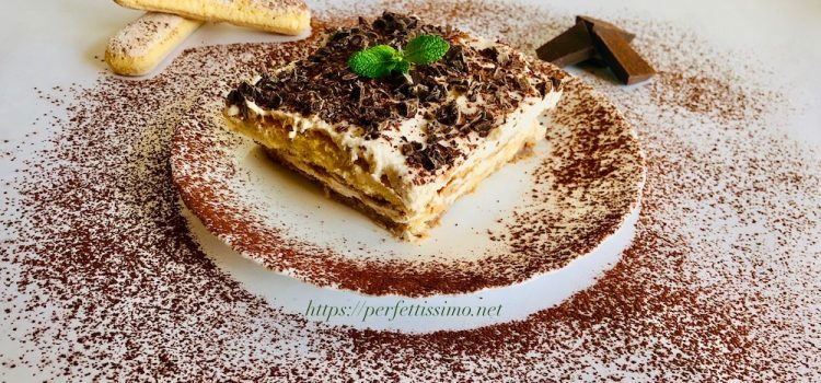 Tiramisu for children without eggs and coffee