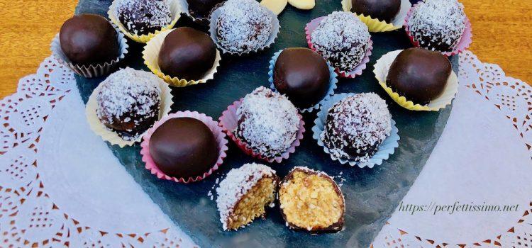 Palline di datteri e cioccolato