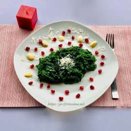 Spinach with butter