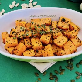 Roasted pumpkin with aromatic herbs