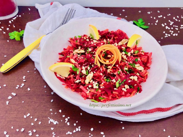 Beet carrot apple salad