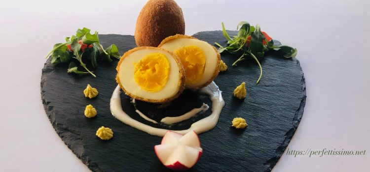 Breaded boiled eggs